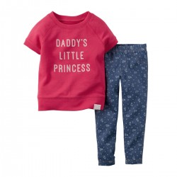 CONJUNTO LEGGINS LITTLE PRINCESS