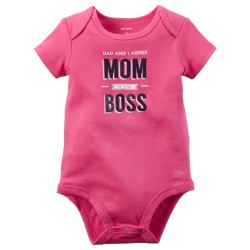 BODIE FUCSIA MOM IS THE BOSS