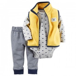 CONJUNTO CHALECO FLEECE AMARILLO
